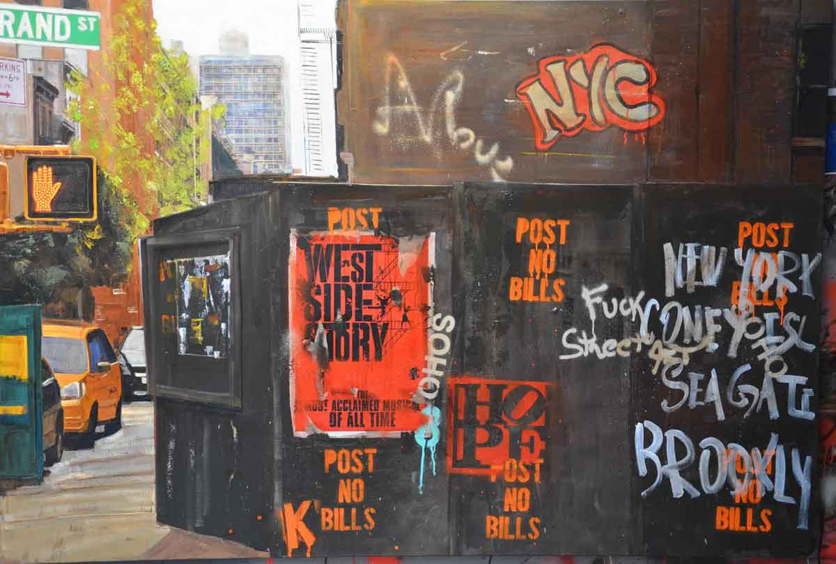 Grand street and West side story 190X130 Peinture